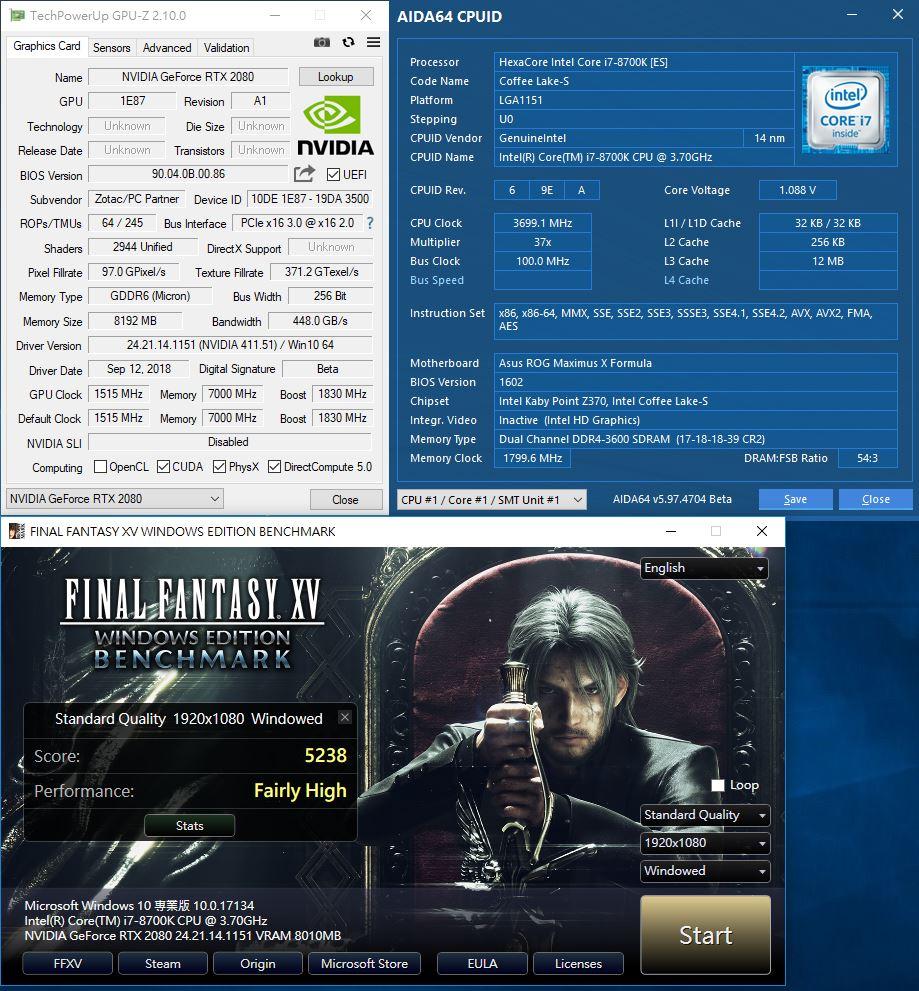 ZOTAC GAMING Geforce RTX 2080 AMP 8GB Turing威能勁冷炫彩效能